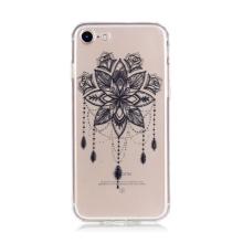 Kryt pro Apple iPhone 7 / 8 gumový - průhledný / květinová mandala