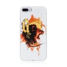 Kryt Harry Potter pro Apple iPhone 7 Plus / 8 Plus - gumový - lev Nebelvíru - bílý