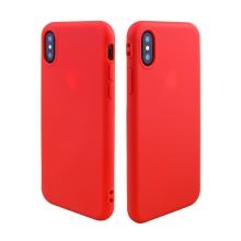 Kryt pro Apple iPhone X - gumový - červený