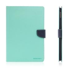 Pouzdro MERCURY Fancy Diary pro Apple iPad Pro 9,7 - stojánek a prostor na doklady - tyrkysové / modré