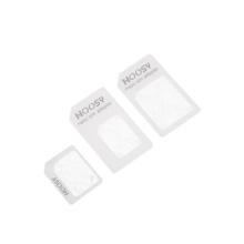 Redukce z Nano SIM karty na Micro SIM a na standardní SIM + redukce Micro SIM na standartní SIM kartu - bílá