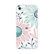 Kryt pro Apple iPhone 7 / 8 / SE (2020) - gumový - kreslené květiny