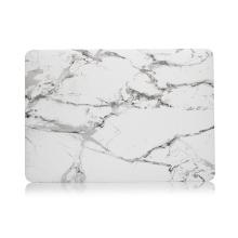 """Obal / kryt pro Apple MacBook Air / Air M1 (2018-2021) 13"""" (A1932, A2179, A2337) - plastový - bílý mramor"""