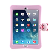 "Pouzdro pro Apple iPad 10,2"" (2019 - 2021) - stojánek - silikonové - růžové / prasátko"