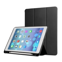 """Pouzdro / kryt pro Apple iPad Air 3 / Pro 10,5"""" - funkce chytrého uspání + stojánek - gumová záda - černé"""