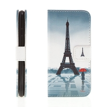 Pouzdro pro Apple iPhone 6 / 6S / 7 / 8 / SE (2020) - integrovaný stojánek a prostor na doklady - Eiffelovka