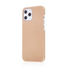 Kryt pro Apple iPhone 12 / 12 Pro - plastový - měkčený povrch - zlatý