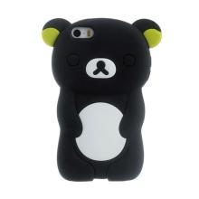 Kryt pro Apple iPhone 5 / 5S / SE - silikonový - medvěd - černý