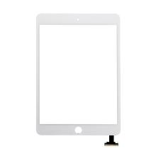 Dotykové sklo (touch screen) pro Apple iPad mini 3 bez IC konektoru - bílé - kvalita A
