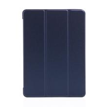 """Pouzdro / kryt pro Apple iPad 9,7 (2017-2018) / Air 1 / 2 / Pro 9,7"""" - funkce chytrého uspání - gumové - tmavě modré"""