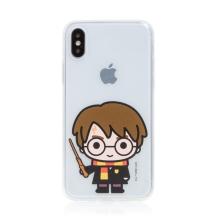 Kryt Harry Potter pro Apple iPhone Xs Max - gumový - Harry Potter - průhledný