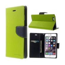 Pouzdro Mercury Goospery pro Apple iPhone 6 Plus / 6S Plus - stojánek a prostor pro platební karty - zeleno-modré