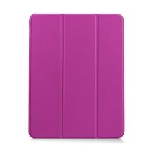 Pouzdro / kryt pro Apple iPad Air 4 (2020) - chytré uspání - držák Apple Pencil - umělá kůže - fialové