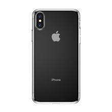 Kryt BASEUS pro Apple iPhone X - ultratenký - gumový - průhledný