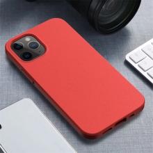 Kryt pro Apple iPhone 12 / 12 Pro - slaměné kousky - gumový - červený