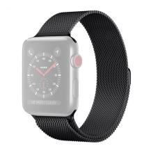Řemínek pro Apple Watch 41mm / 40mm / 38mm - nerezový - černý