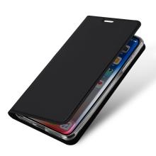 Pouzdro DUX DUCIS pro Apple iPhone Xr - stojánek + prostor pro platební kartu - černé