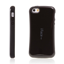 Kryt iFace pro Apple iPhone 5 / 5S / SE plasto-gumový - černý