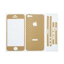 Ochranná dekorační celoobvodová vrstva pro Apple iPhone 5 - karbon - zlatá