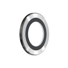 Tvrzené sklo (Tempered Glass) DEVIA pro Apple iPhone 13 Pro / Pro Max - na čočku fotoaparátu - s kamínky - 3 ks - stříbrné