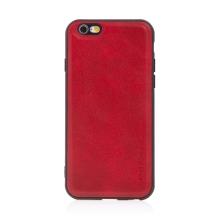 Kryt pro Apple iPhone 6 / 6S - umělá kůže / gumový - červený