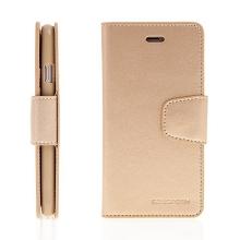 Pouzdro Mercury Sonata Diary pro Apple iPhone 6 Plus / 6S Plus - stojánek a prostor na osobní doklady - zlaté
