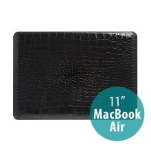 Plastový obal pro Apple MacBook Air 11 - vzor krokodýlí kůže - černý