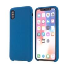 Kryt pro Apple iPhone X - gumový - příjemný na dotek - tmavě modrý