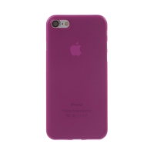 Kryt / obal pro Apple iPhone 7 / 8 / SE (2020) - ochrana čočky - ultratenký - plastový - matný - růžový