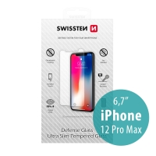 Tvrzené sklo (Tempered Glass) SWISSTEN pro Apple iPhone 12 Pro Max - přední - odolné - 0,3mm