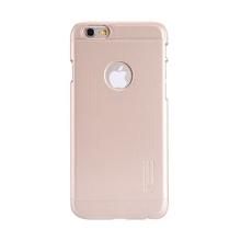 Kryt Nillkin pro Apple iPhone 6 / 6S plastový / jemná povrchová struktura - výřezem pro logo - zlatý + ochranná fólie