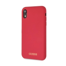 Kryt GUESS Silicone pro Apple iPhone Xr - silikonový - červený