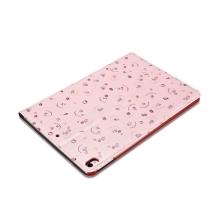"""Pouzdro XOOMZ pro Apple iPad Pro 10,5"""" / Air 3 (2019) - funkce chytrého uspání + stojánek - růžové - včely a květiny"""