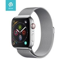 Řemínek DEVIA pro Apple Watch 40mm Series 4 / 5 / 6 / SE / 38mm 1 / 2 / 3 - nerezový - stříbrný