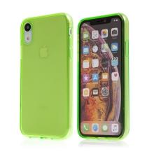 Kryt pro Apple iPhone Xr - gumový - průhledný - zelený