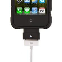 Prodlužovací nabíjecí 30 pinový konektor pro Apple iPhone / iPad / iPod - černý