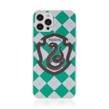 Kryt Harry Potter pro Apple iPhone 12 / 12 Pro - gumový - emblém Zmijozelu