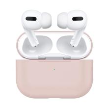 Pouzdro pro Apple AirPods Pro - silikonové - pískově růžové
