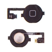 Obvod tlačítka Home Button + připojovací flex + tlačítko Home Button pro Apple iPhone 4 - černé