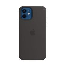Originální kryt pro Apple iPhone 12 / 12 Pro - silikonový - černý