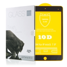 Tvrzené sklo (Tempered Glass) pro Apple iPad mini 4 / 5 - 2,5D okraj - černý rámeček - čiré