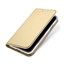 Pouzdro DUX DUCIS pro Apple iPhone X - stojánek + prostor pro platební kartu - zlaté