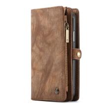 Pouzdro CASEME pro Apple iPhone Xr - peněženka + kryt - prostor na doklady - hnědé
