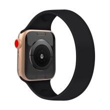 Řemínek pro Apple Watch 44mm Series 4 / 5 / 6 / SE / 42mm 1 / 2 / 3 - bez spony - silikonový -  velikost L - černý