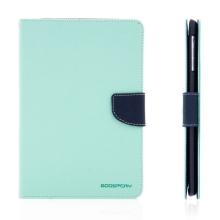 Pouzdro Mercury Goospery pro Apple iPad mini / mini 2 / mini 3 se stojánkem a prostorem na doklady - tyrkysovo-modré