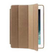 Pouzdro / kryt pro Apple iPad 2 / 3 / 4 - funkce chytrého uspání + stojánek - zlaté