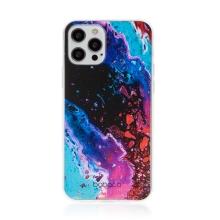 Kryt BABACO pro Apple iPhone 12 / 12 Pro - gumový - abstraktní vlnky