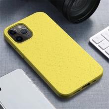 Kryt pro Apple iPhone 12 / 12 Pro - slaměné kousky - gumový - žlutý