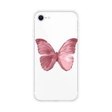 Kryt pro Apple iPhone 7 / 8 / SE (2020) - gumový - růžový motýl