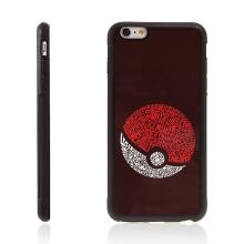 Kryt pro Apple iPhone 6 / 6S - kovový povrch - gumový - Pokemon Go / PokeBall